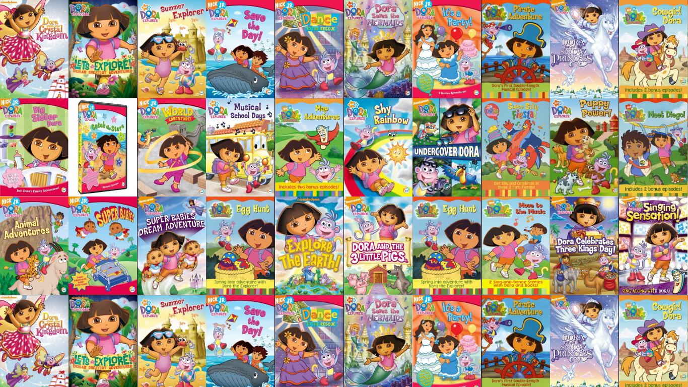 Dora The Explorer Pirate Adventure Tiled Desktop Wallpaper