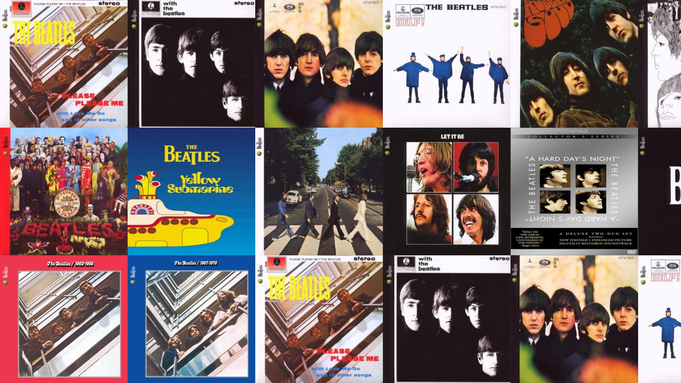 Beatles Please Me With Wallpaper Tiled Desktop