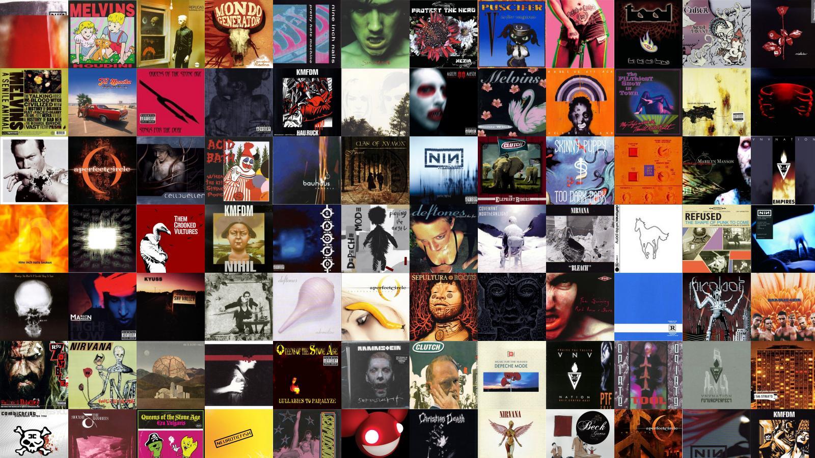 Nine Inch Nails The Fragile Melvins Houdini Gary Wallpaper « Tiled ...