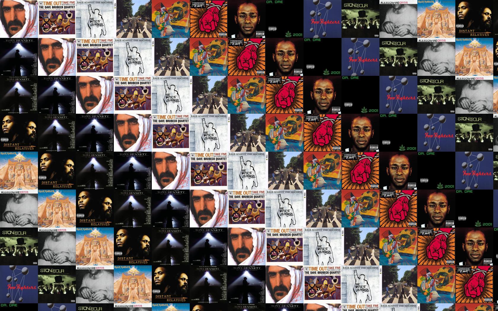 Frank Zappa Sheik Yerbouti Dave Brubeck Time Out Wallpaper