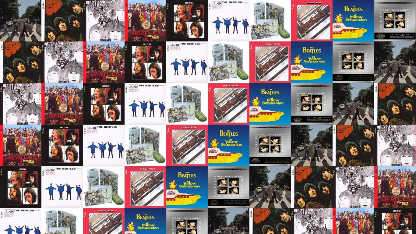Beatles Abbey Road Rubber Soul Revolver Wallpaper Tiled Desktop