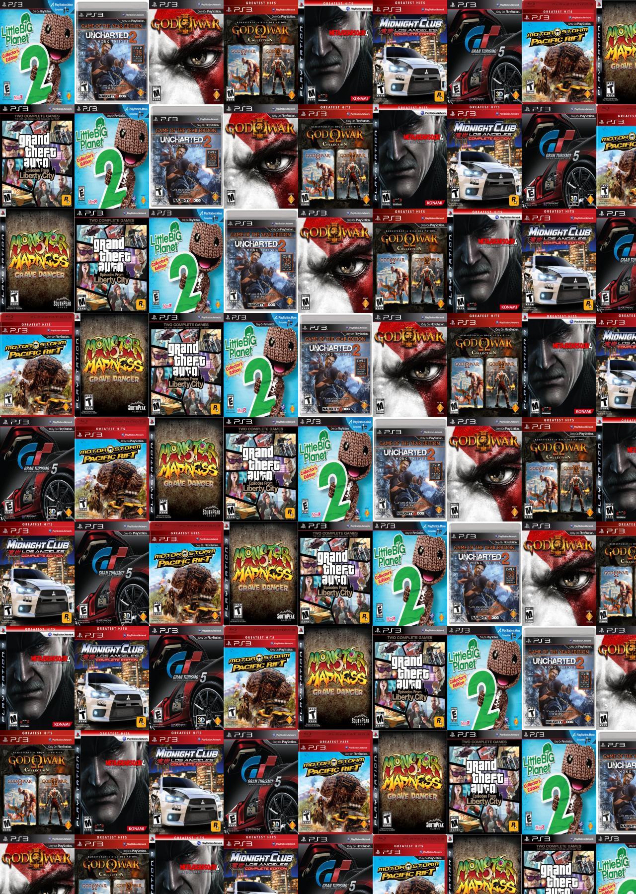 Little Big Planet Uncharted 2 God Of War Wallpaper Tiled Desktop