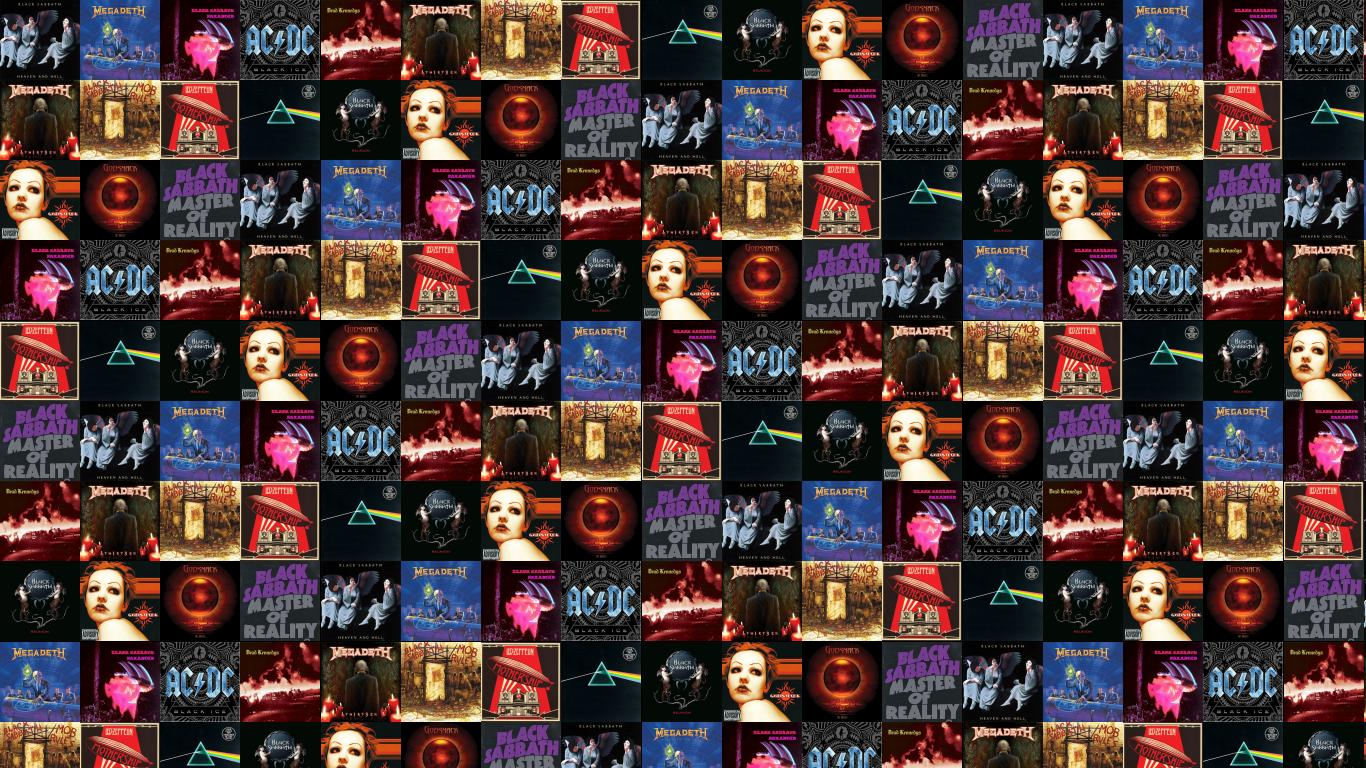 Black Sabbath Heaven Hell Megadeth Rust In Peace Wallpaper Tiled