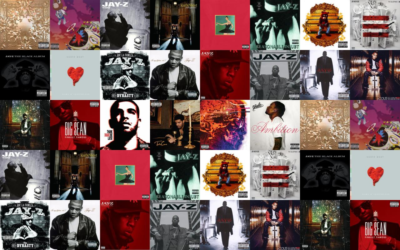 Jay z watch the throne kanye west wallpaper tiled - Drake collage wallpaper ...