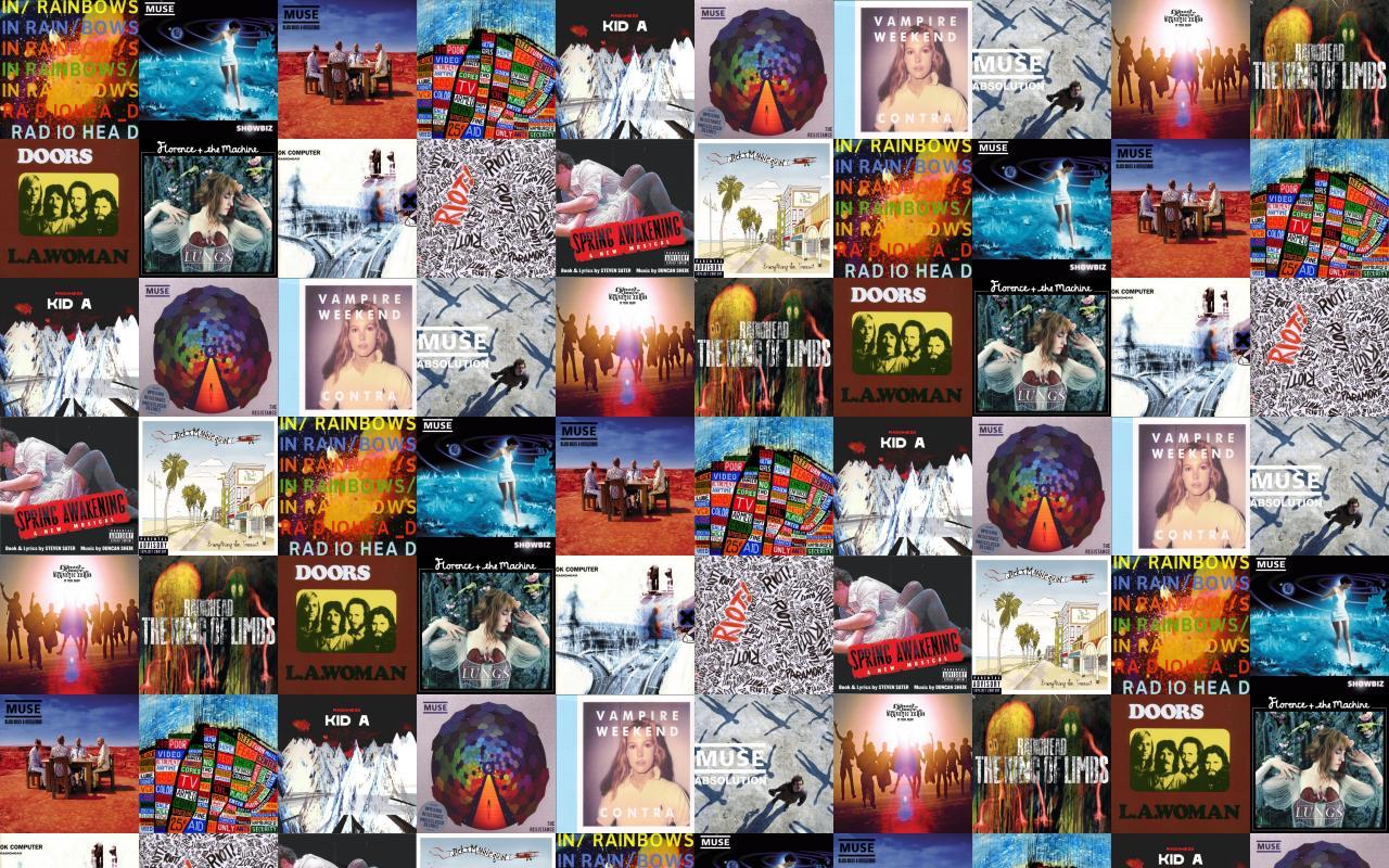 Radiohead In Rainbows Muse Showbiz Black Holes Revelations Wallpaper Tiled Desktop Wallpaper