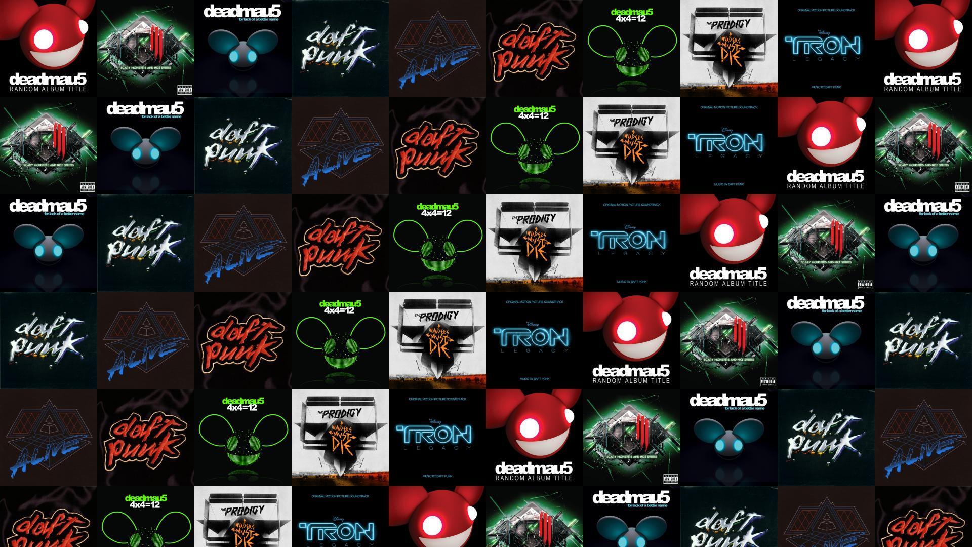 Deadmau5 Random Album Title Skrillex Scary Monsters Nice Wallpaper Tiled Desktop