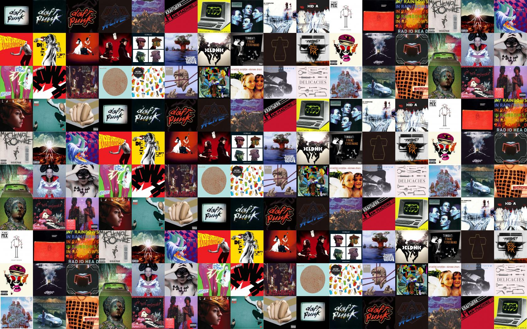 Daft Punk Human After All Discovery Homework Alive Wallpaper Tiled Desktop