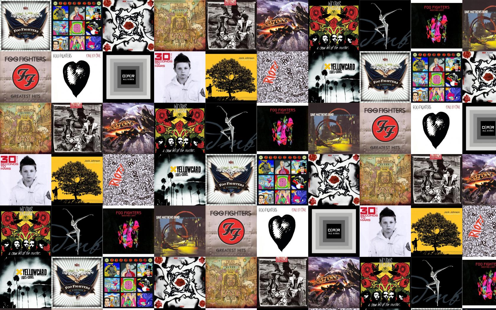 Foo Fighters In Your Honor Pearl Jam Backspacer Wallpaper Tiled Desktop