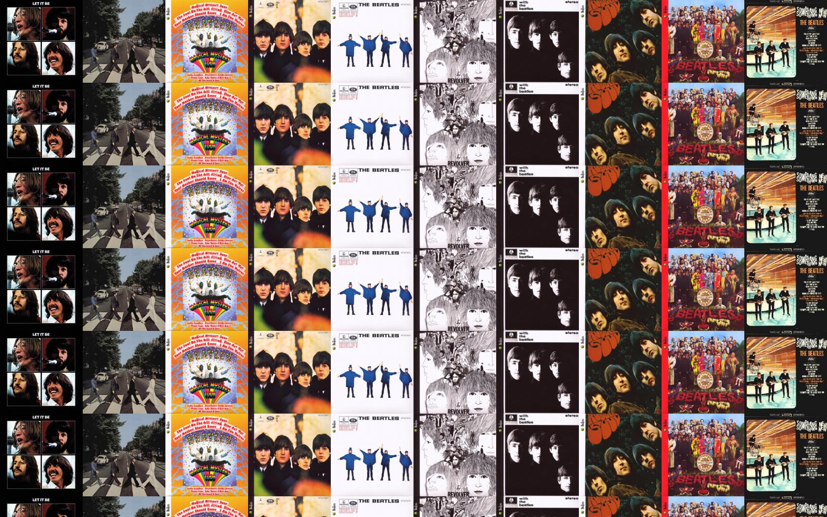 Beatles Let Abbey Road Magical Mystery Tour Wallpaper Tiled Desktop