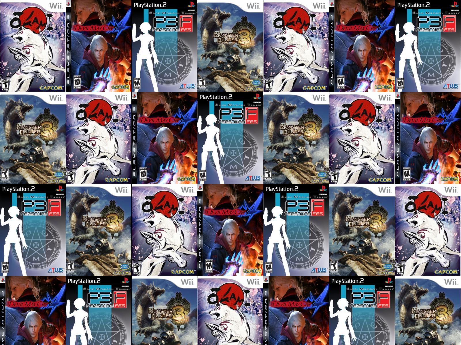 Okami Devil May Cry 4 Persona 3 Fes Wallpaper Tiled