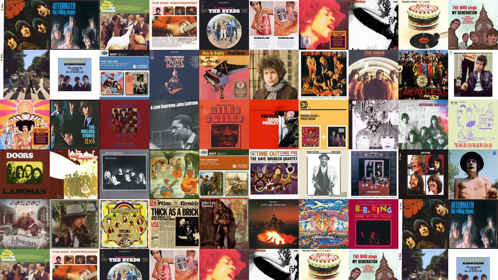Beatles Rubber Soul Rolling Stones Aftermath Beach Boys