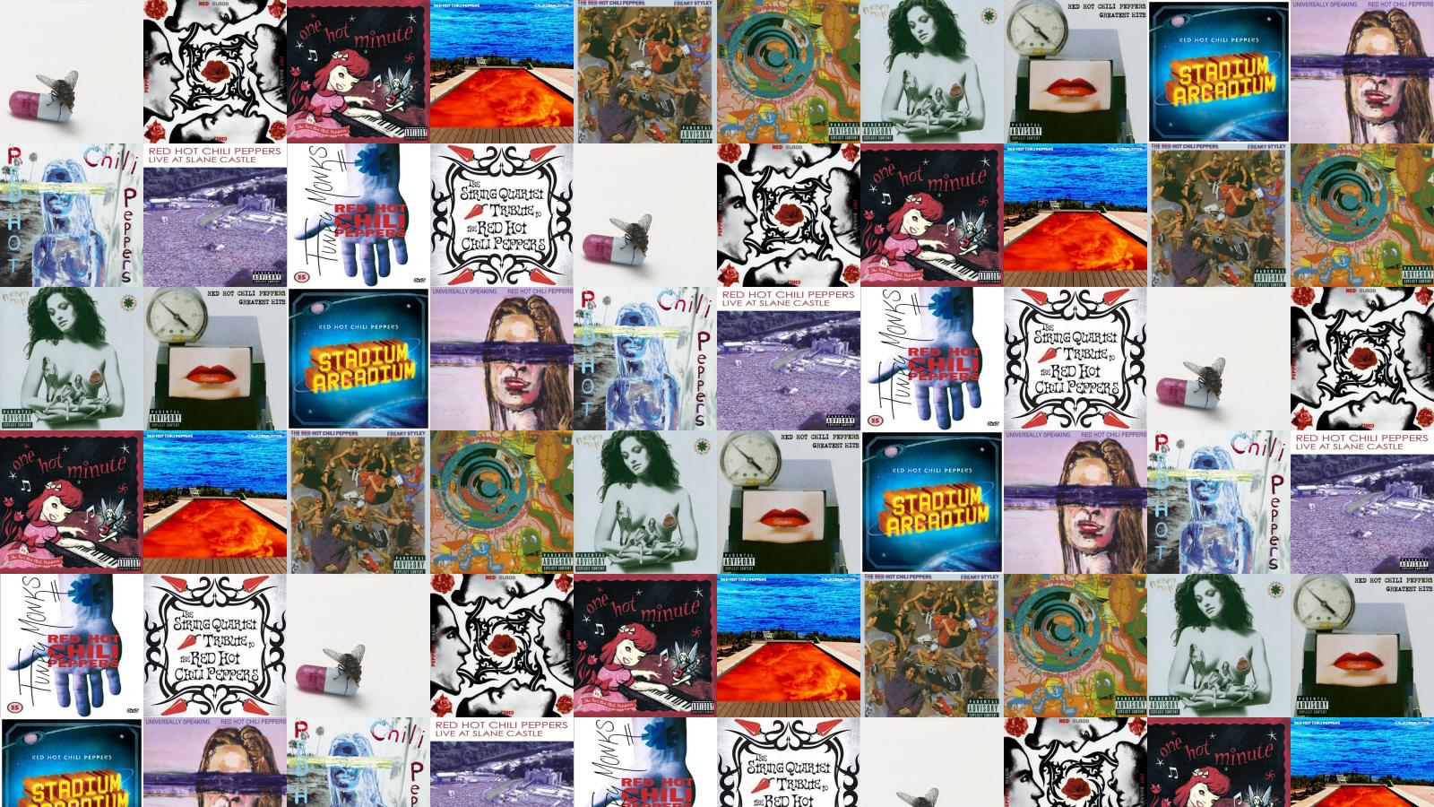 Red Hot Chili Peppers Red Hot Chili Peppers Wallpaper Tiled