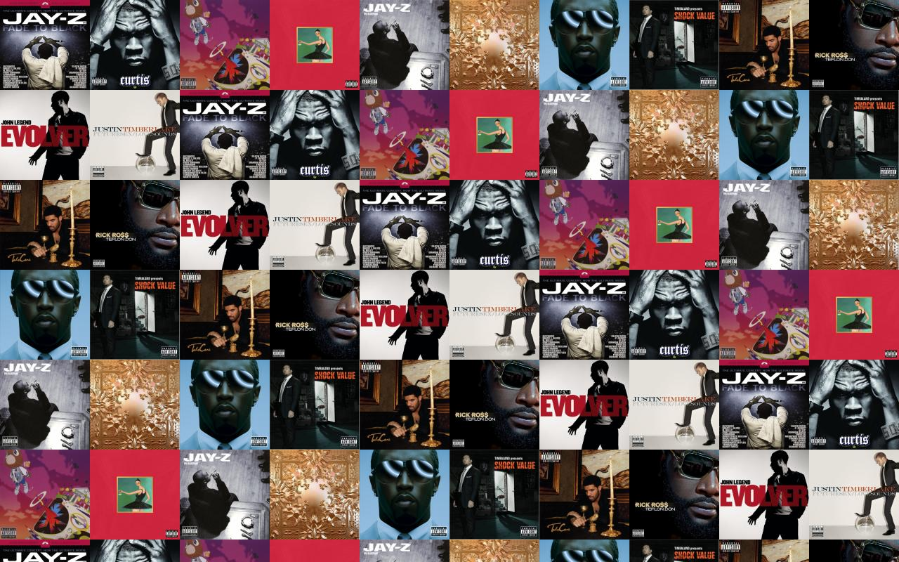 Jay z black album 50 cent curtis kanye wallpaper tiled desktop download tweak this malvernweather Gallery