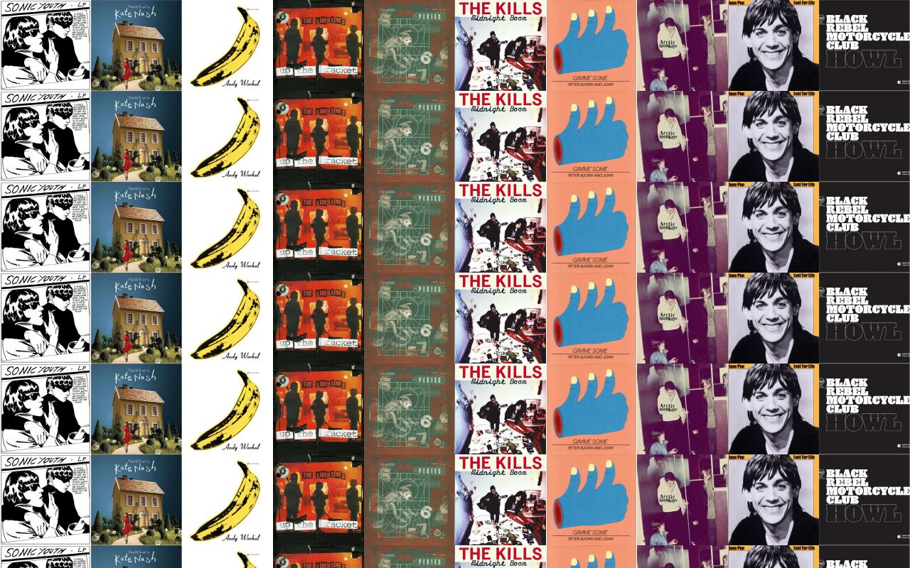 The Kills Tiled Desktop Wallpaper