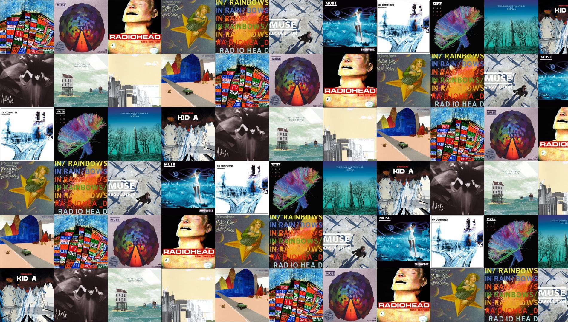 Radiohead Hail To The Thief Muse Resistance Bends Wallpaper Tiled