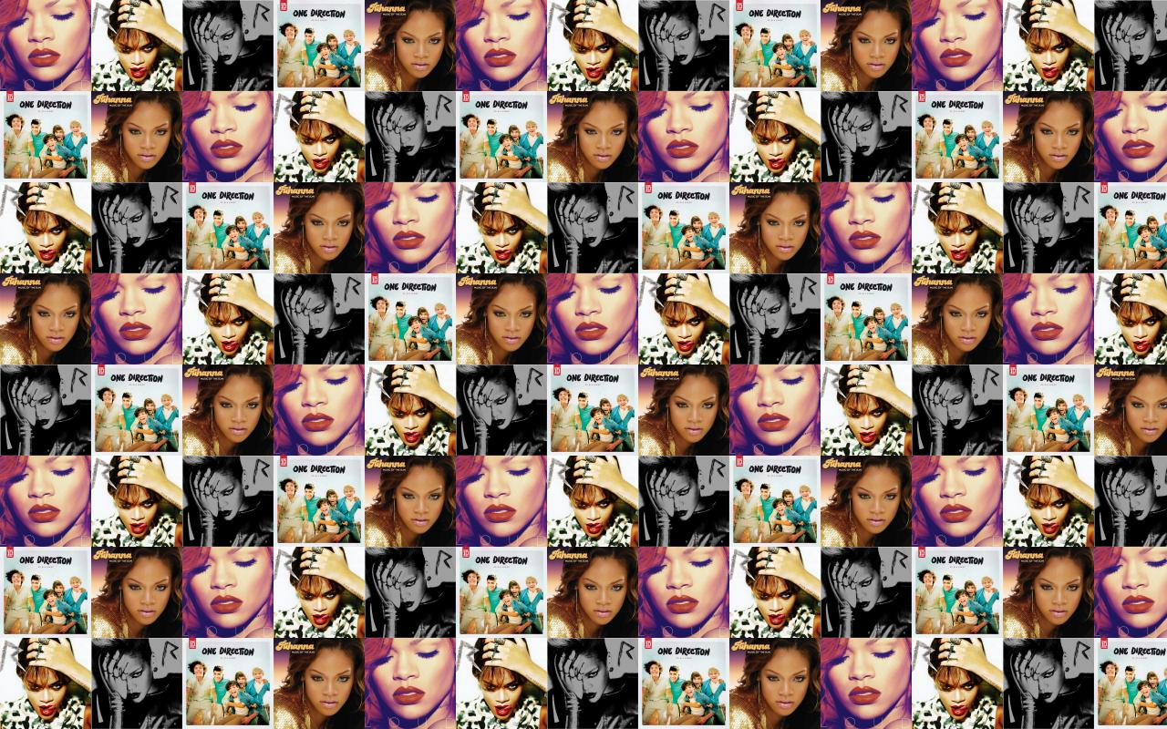 Rihanna Loud Talk That Rated R One Wallpaper Tiled Desktop