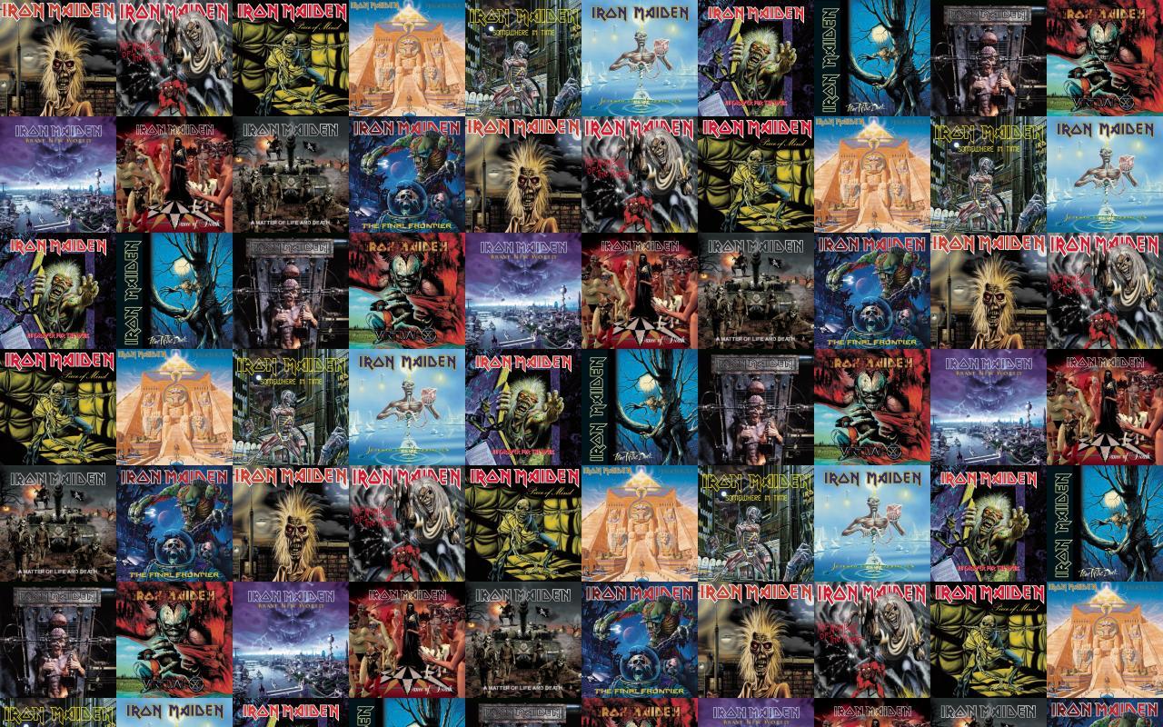 Iron Maiden Killers Number Beast Piece Mind Powerslave Wallpaper Tiled Desktop
