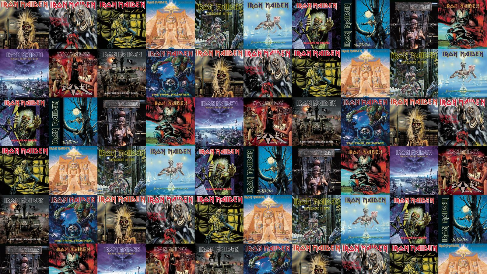 Iron Maiden Killers Number Beast Piece Mind Powerslave