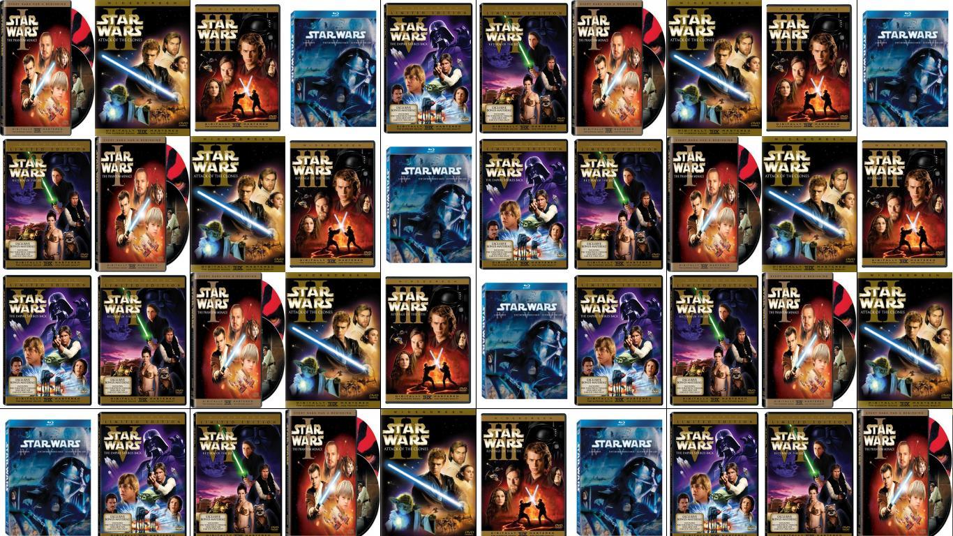 The Phantom Menace Attack Clones Revenge Sith Star Wallpaper « Tiled Desktop Wallpaper