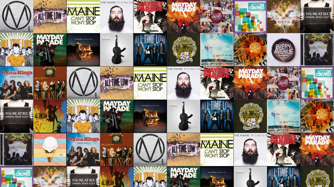 July 2012 tiled desktop wallpaper maine black white all time low nothing personal wallpaper voltagebd Choice Image