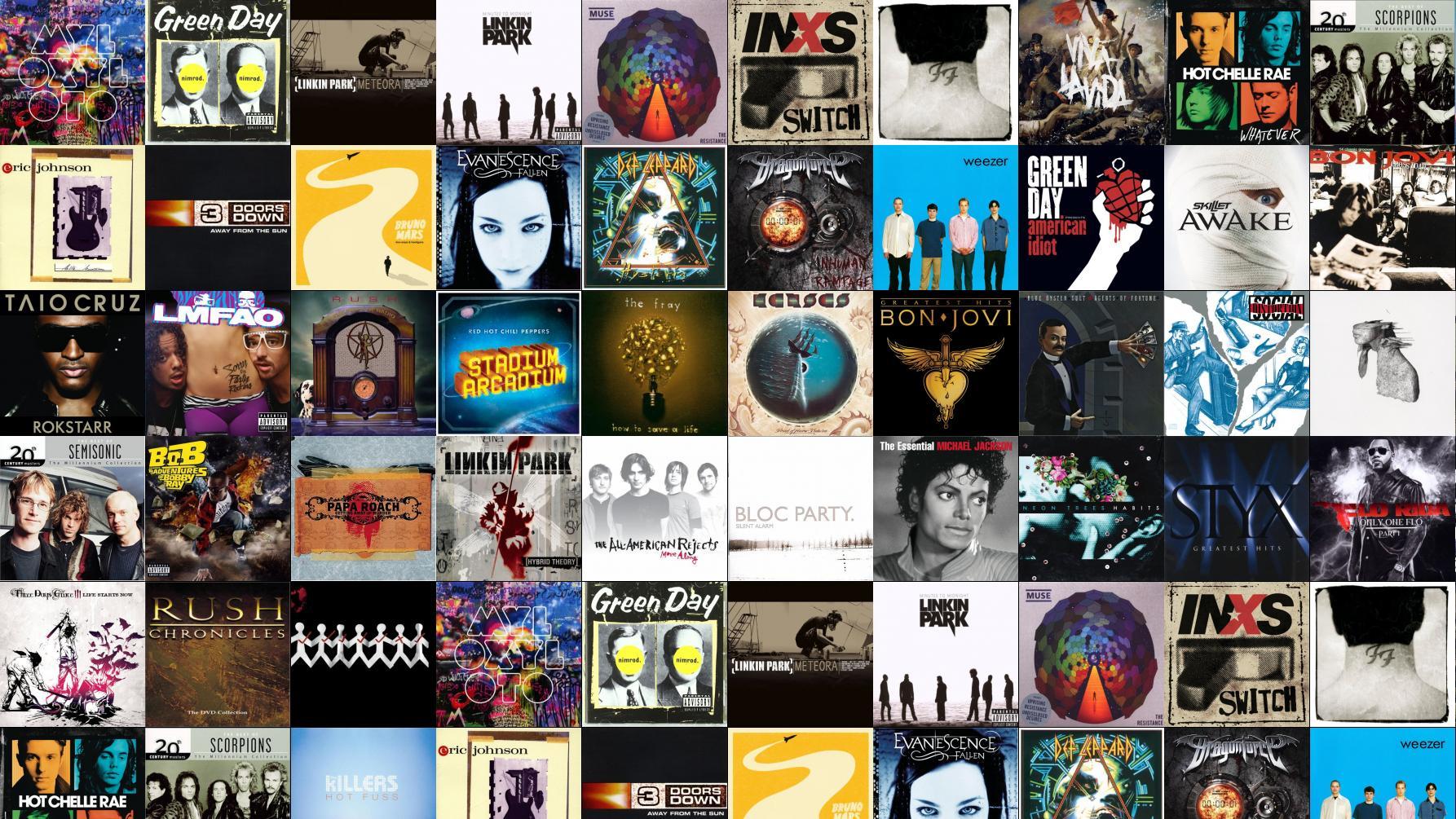 Coldplay Mylo Xyloto Green Day Nimrod Linkin Park ...
