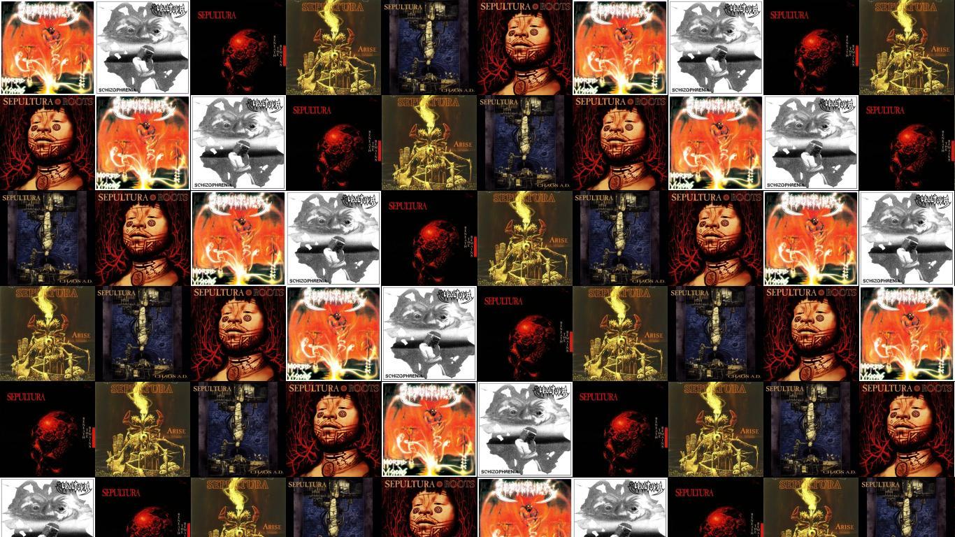 Sepultura Morbid Visions Schizophrenia Beneath Remains Arise Chaos Wallpaper Tiled Desktop Wallpaper