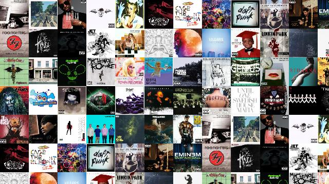 Create tiled desktop wallpapers with album art, video game, and dvd ...