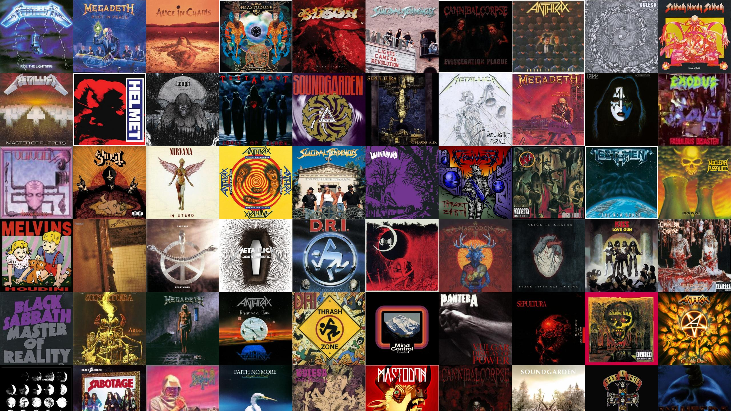 Metallica Ride Lightning Megadeth Rust In Peace Alice Wallpaper