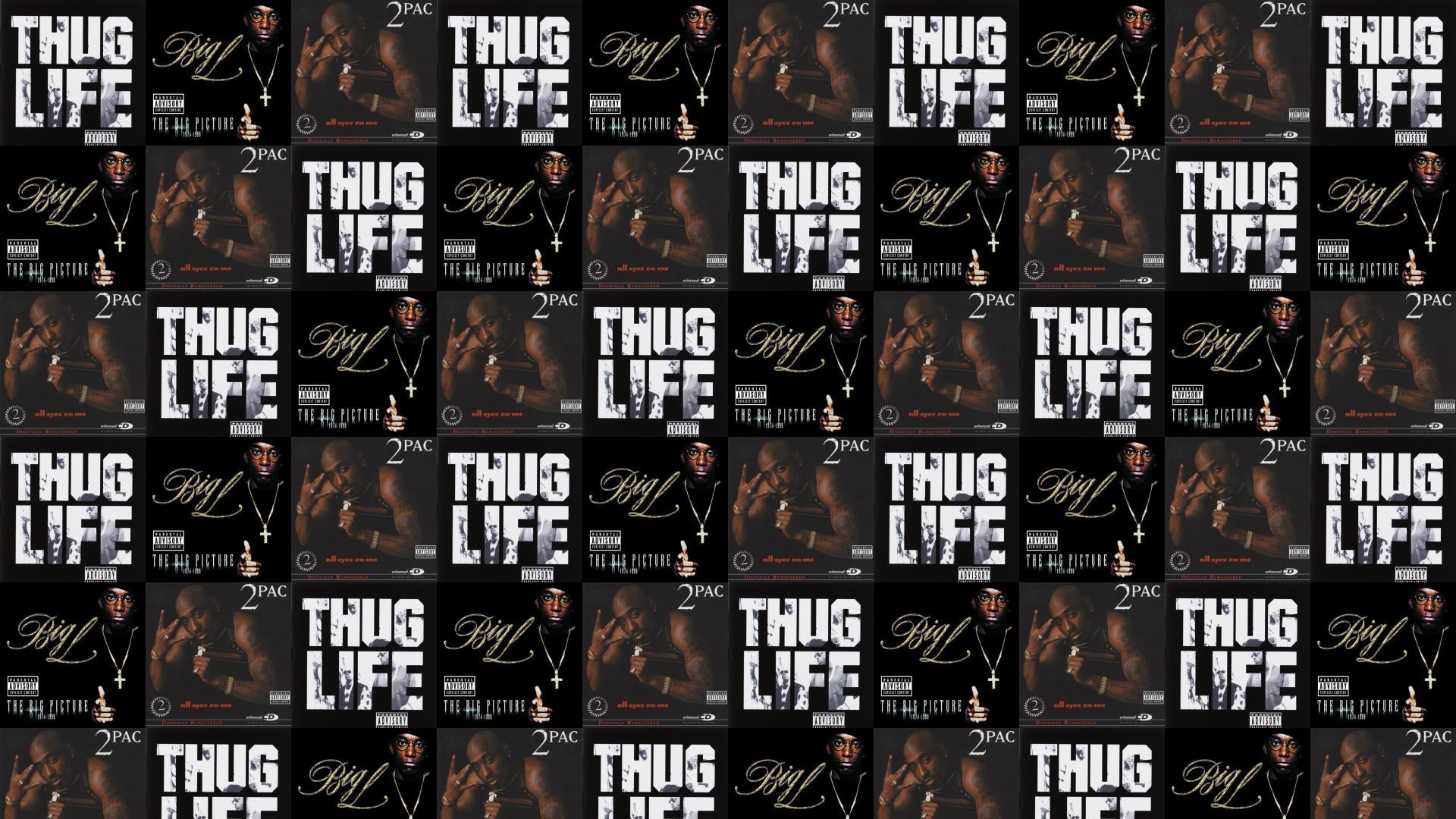 2pac Thug Life Big L The Picture Wallpaper Tiled Desktop