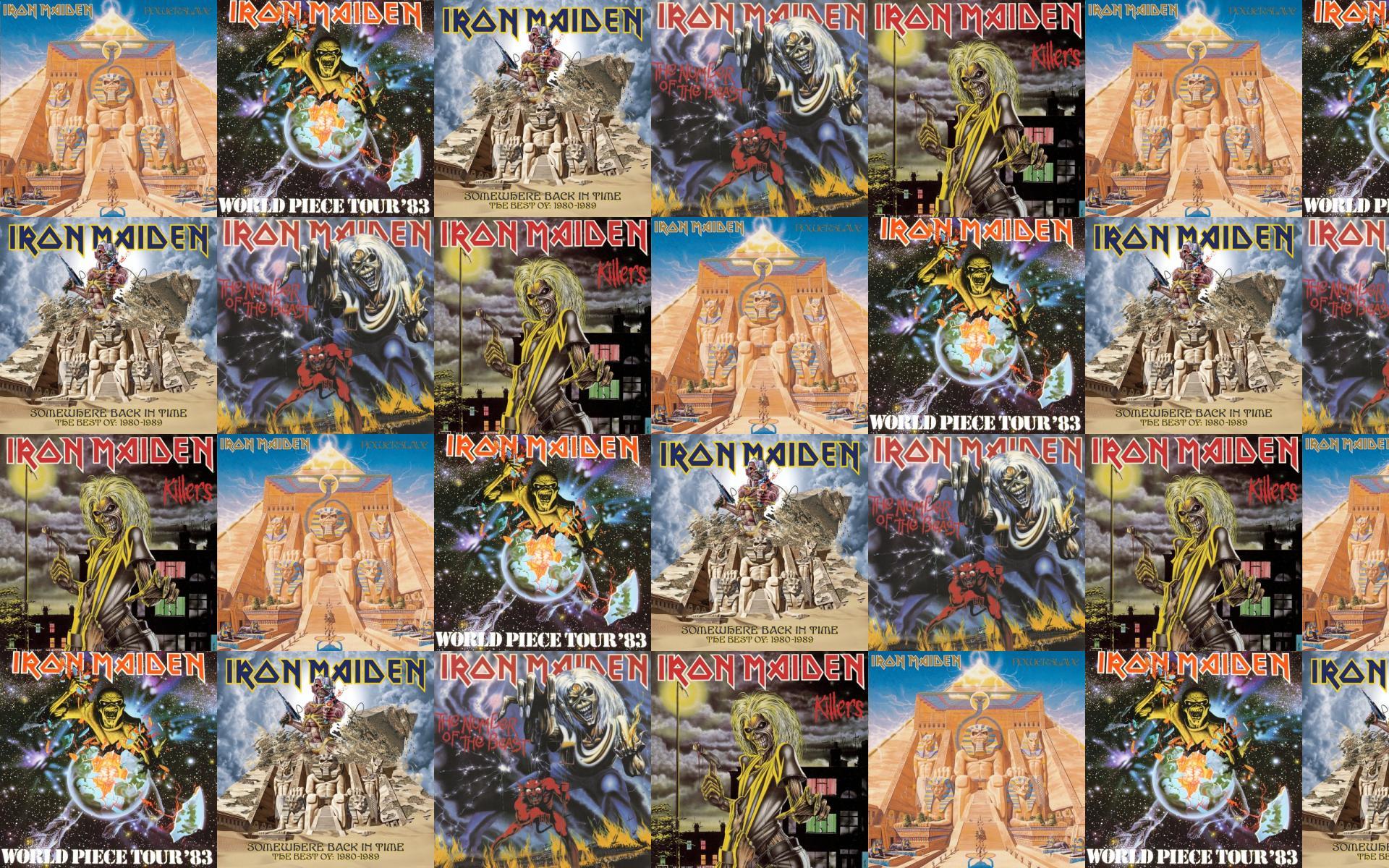 Iron Maiden Iron Maiden Piece Mind Somewhere Wallpaper