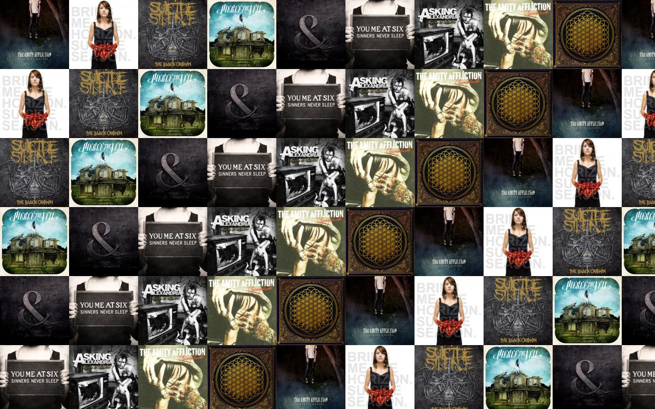 The Amity Affliction Chasing Ghosts Bring Me Horizon Wallpaper Tiled Desktop