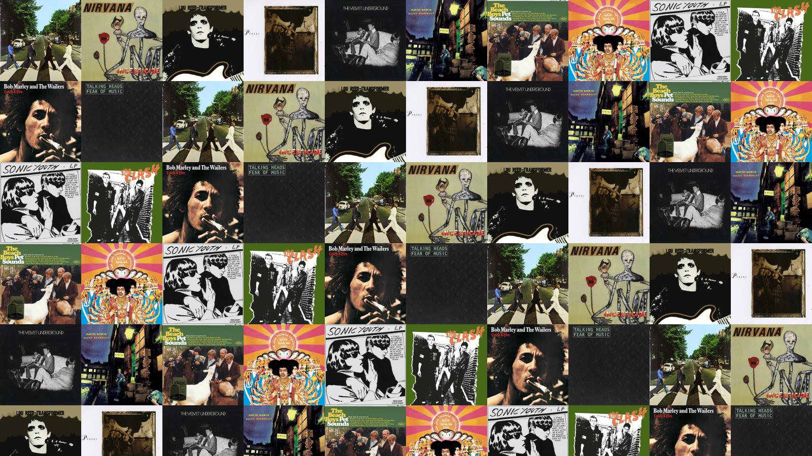 Beatles Abbey Road Nirvana Incesticide Lou Reed Transformer