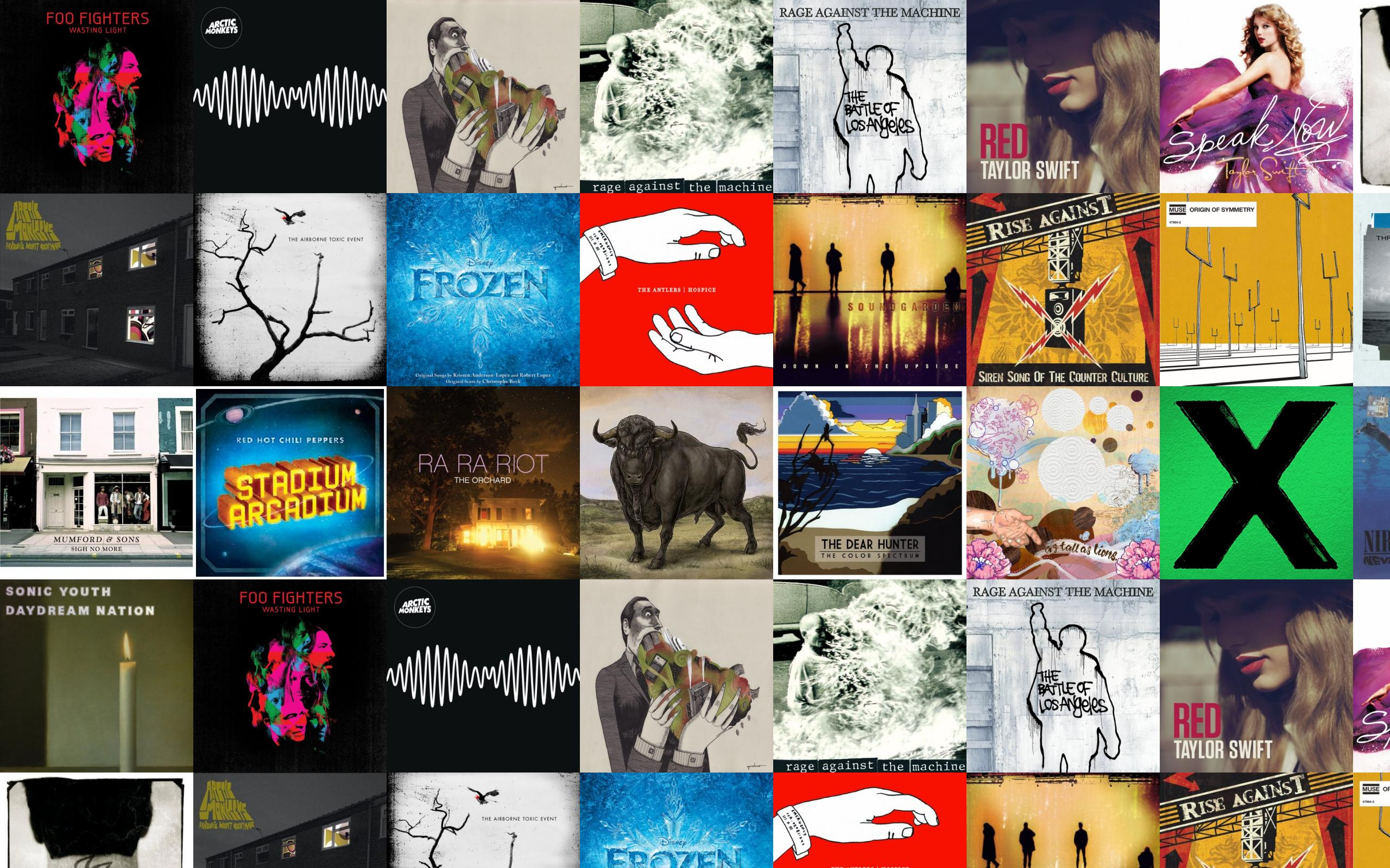 Foo Fighters Wasting Light Arctic Monkeys Am As Wallpaper Tiled