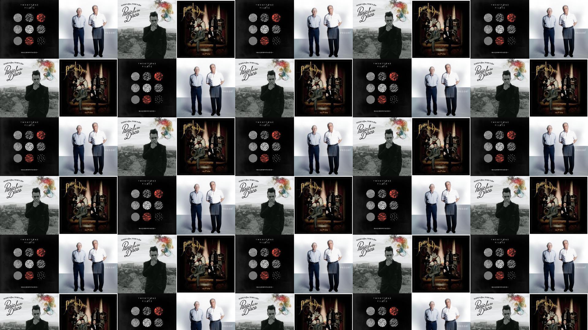Twenty One Pilots Blurryface Vessel Panic At Disco Wallpaper Tiled Desktop
