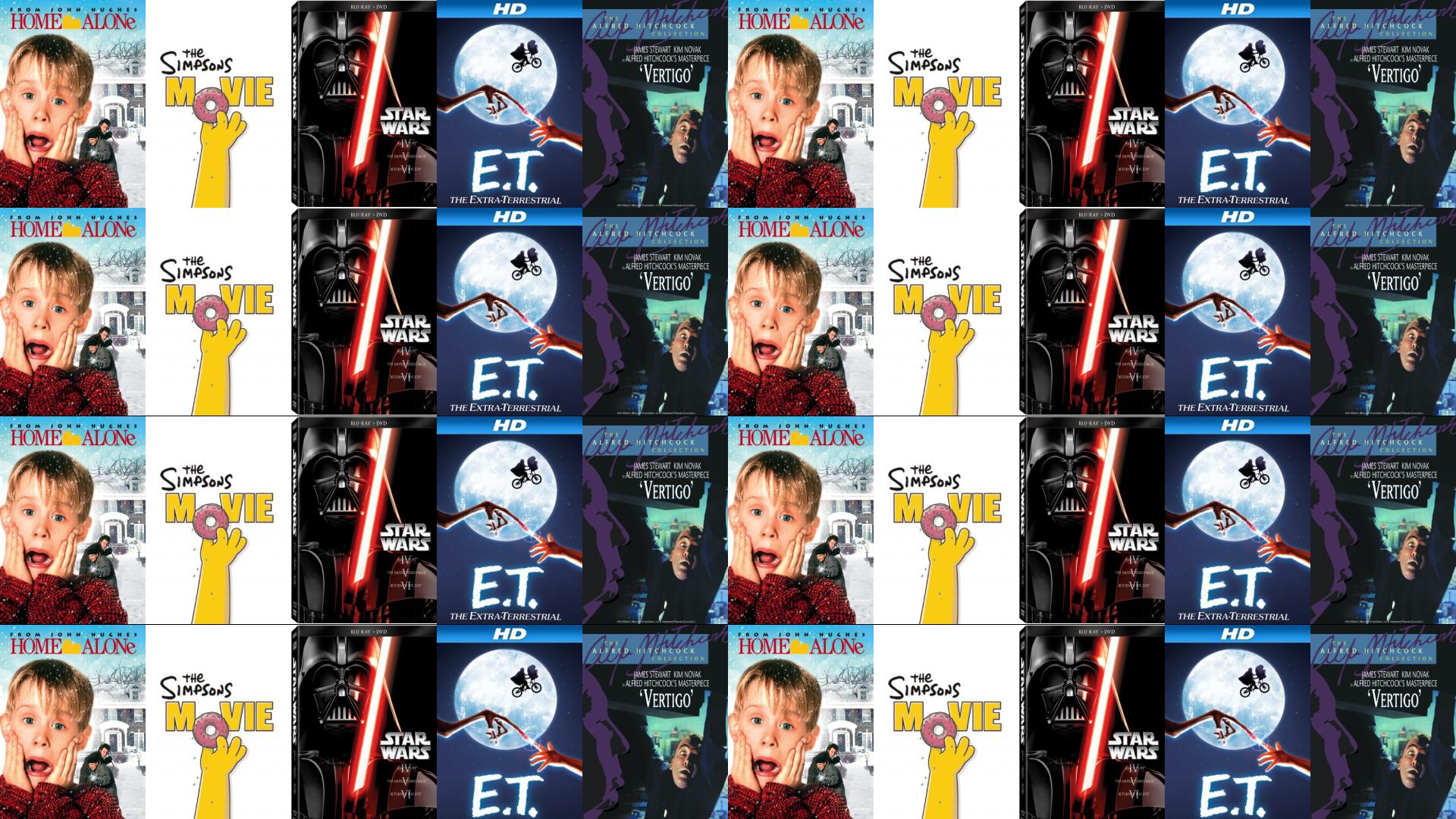 Home Alone Simpsons Movie Star Wars Episode Iv Wallpaper Tiled Desktop Wallpaper