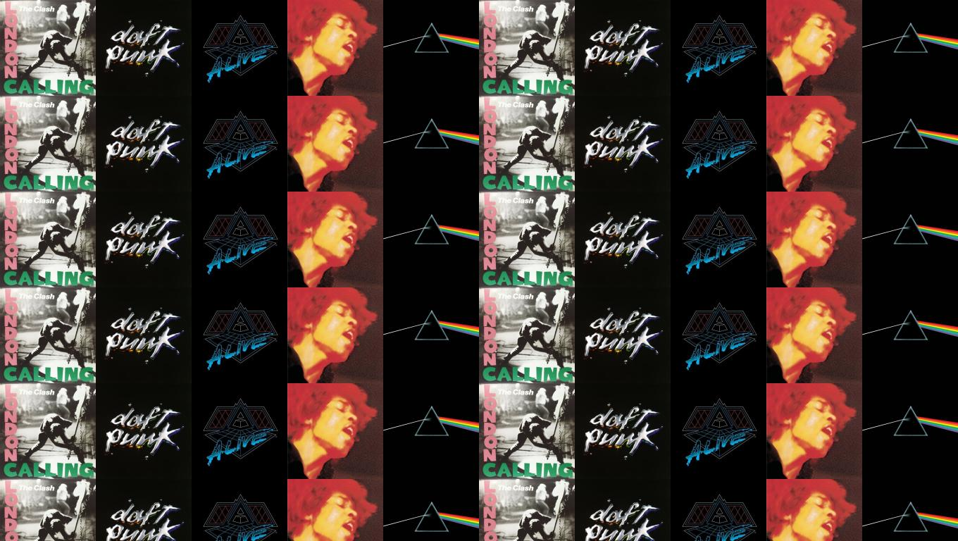 The Clash London Calling Daft Punk Discovery Alive Wallpaper Tiled Desktop