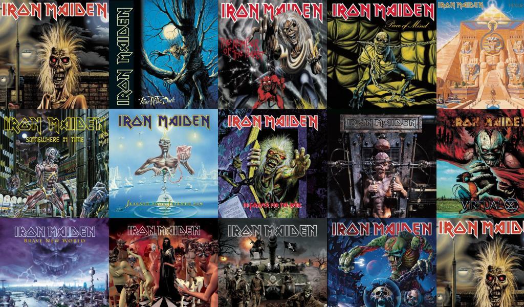 Iron Maiden Killers Fear Dark Number Beast Piece Wallpaper Tiled Desktop