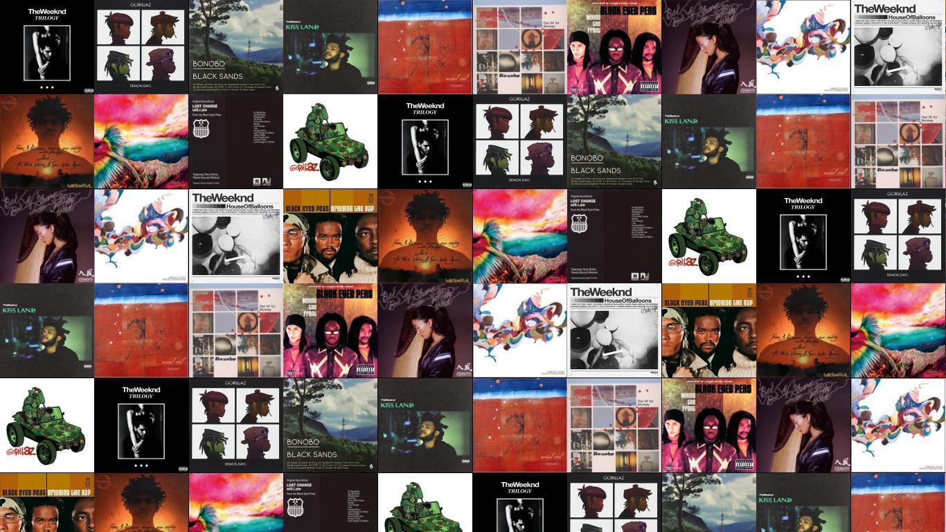Weeknd Trilogy Gorillaz Demon Days Bonobo Black Sands Wallpaper