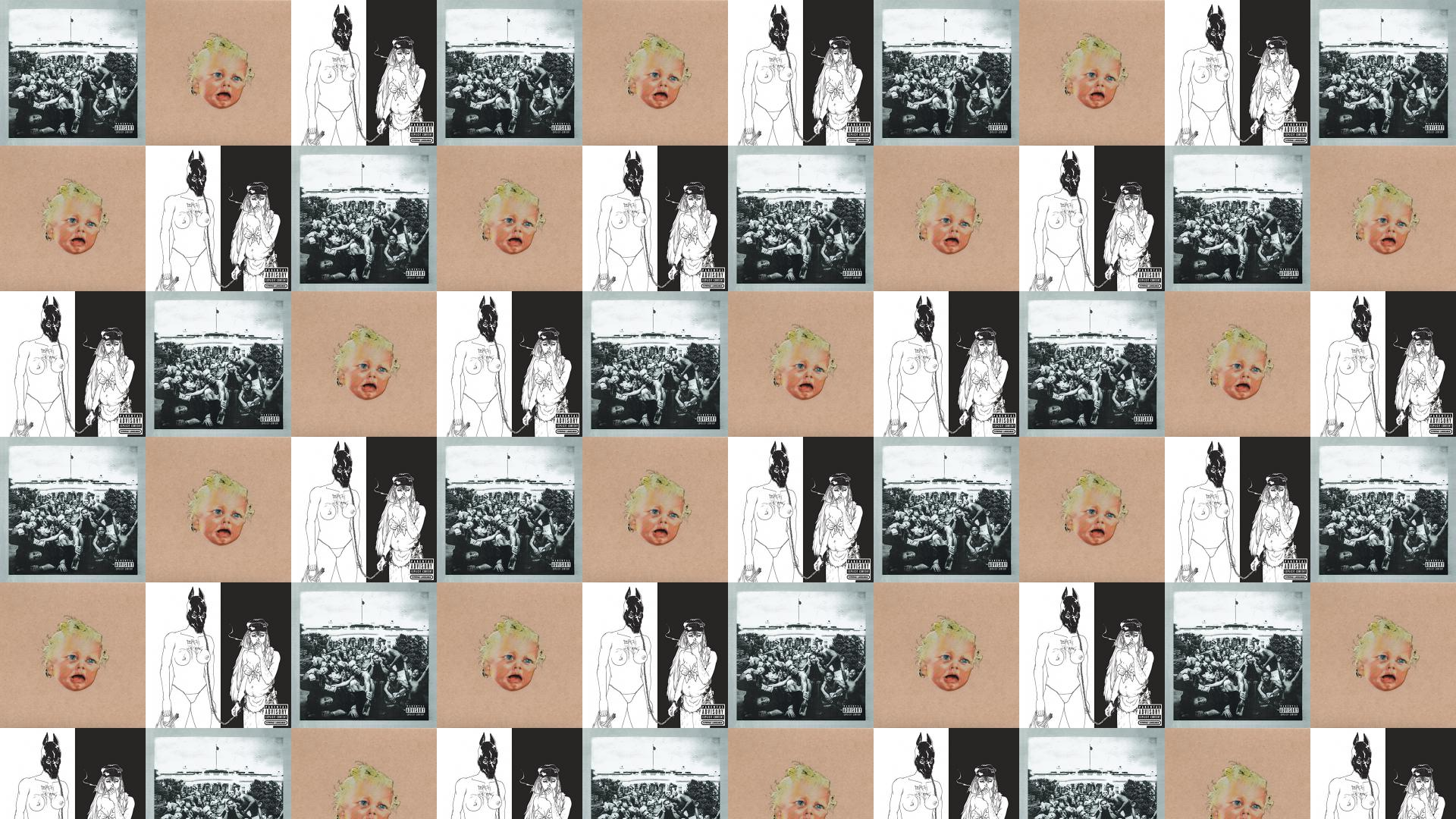 Death Grips Tiled Desktop Wallpaper