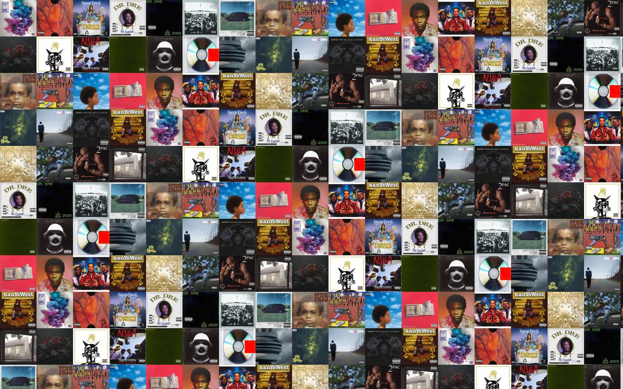 Albums Tiled Desktop Wallpaper