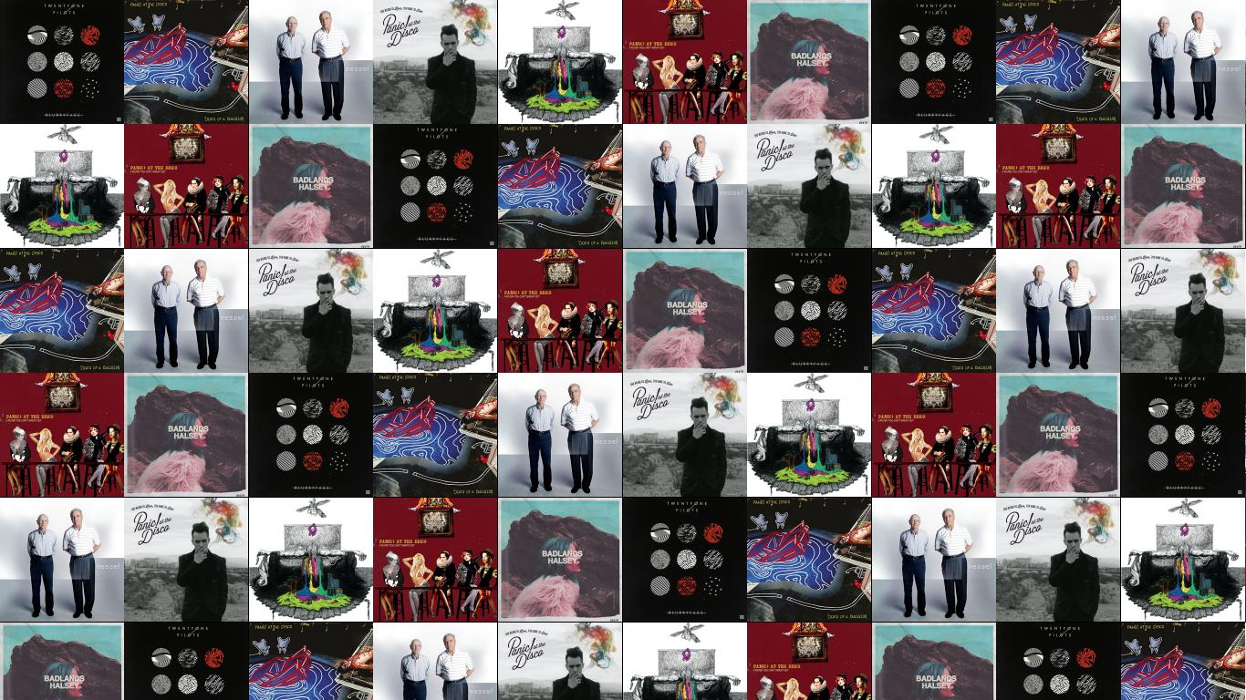 Download This Free Wallpaper With Images Of Twenty One Pilots Blurryface Panic At The Disco Death A Bachelor Vessel