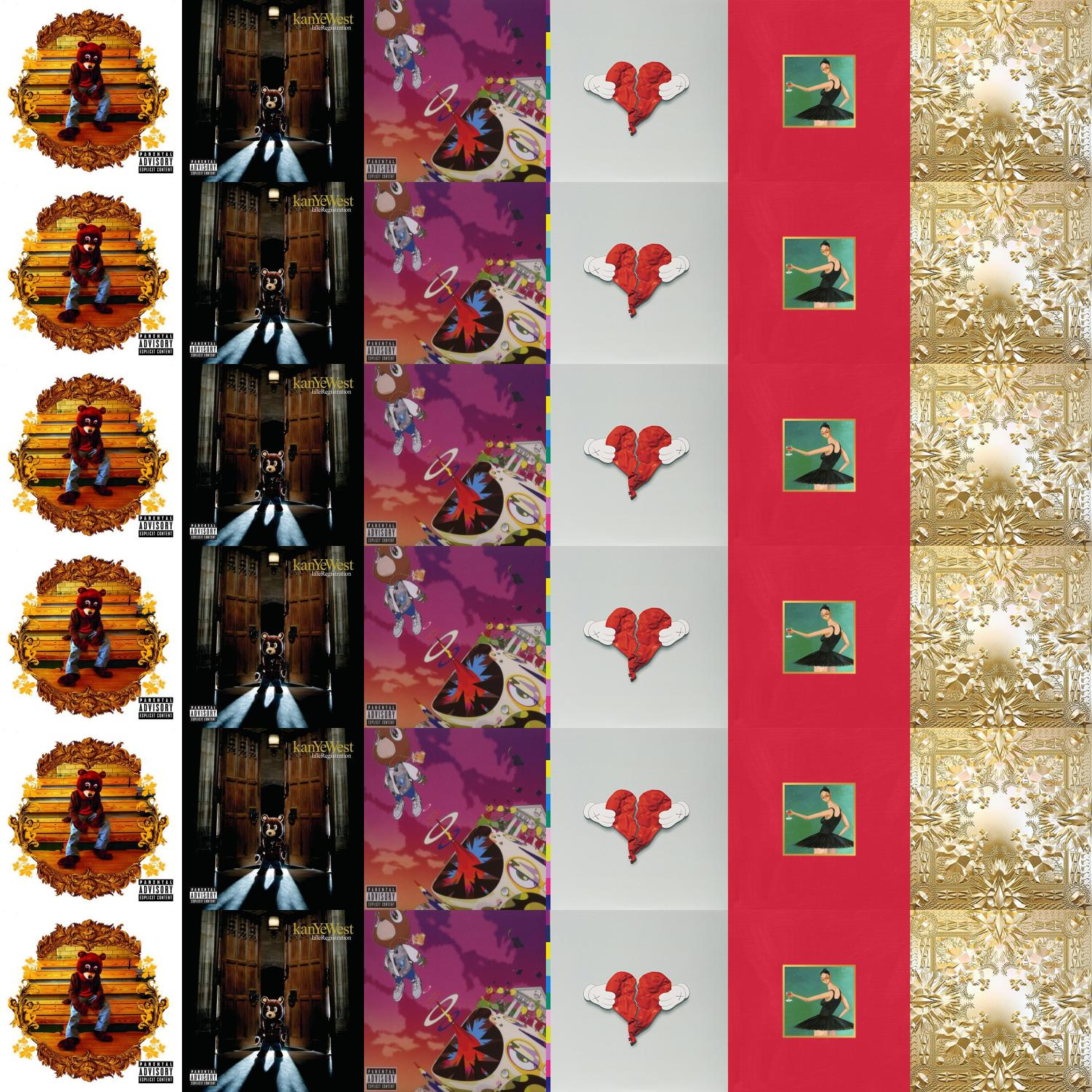 Download this free wallpaper with images of Kanye West – College Dropout, Kanye  West – Late Registration, Kanye West – Graduation, Kanye West – 808s And ...