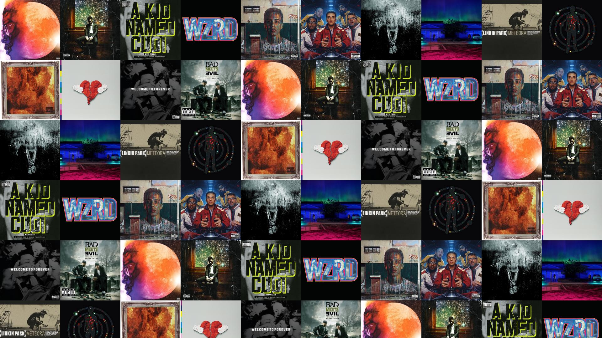 Kid Cudi Man On Moon 2 Man On Wallpaper Tiled Desktop Wallpaper