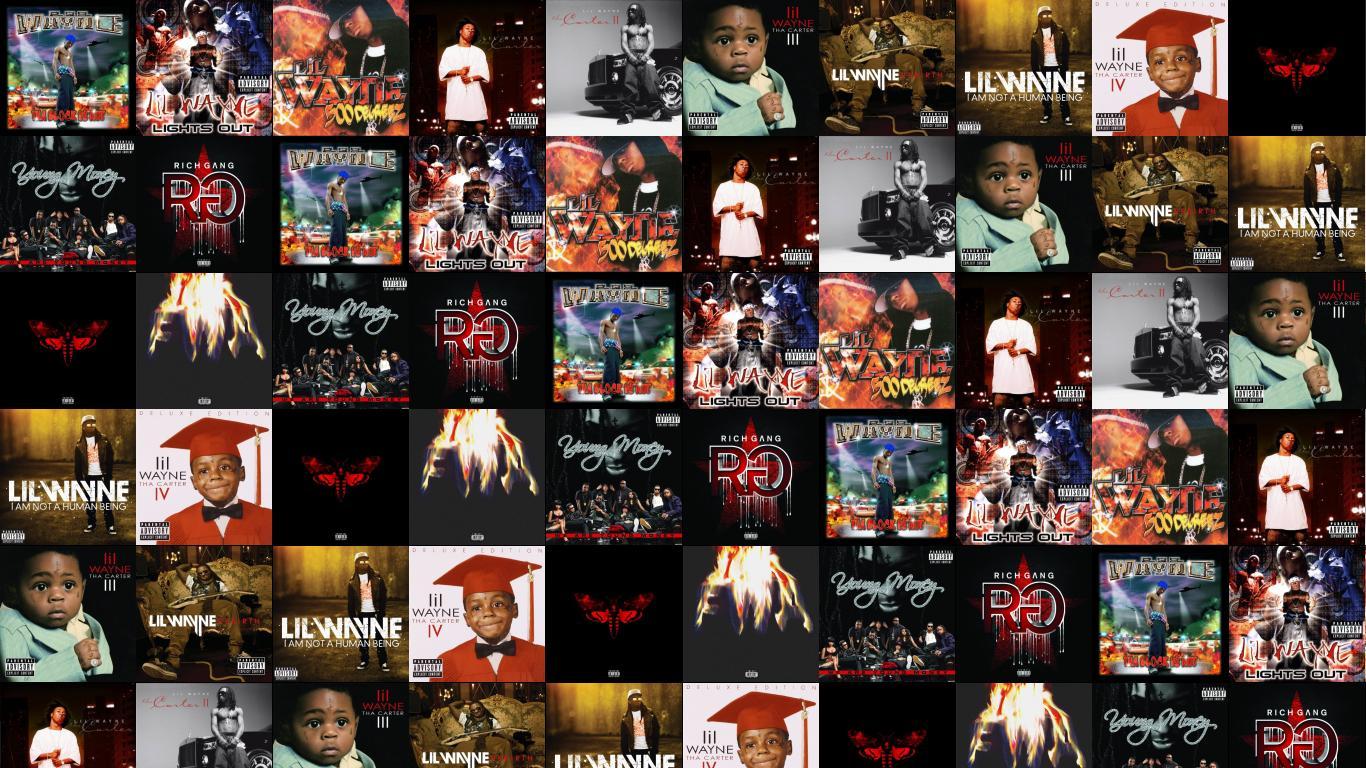 Rebirth Lil Wayne Tiled Desktop Wallpaper