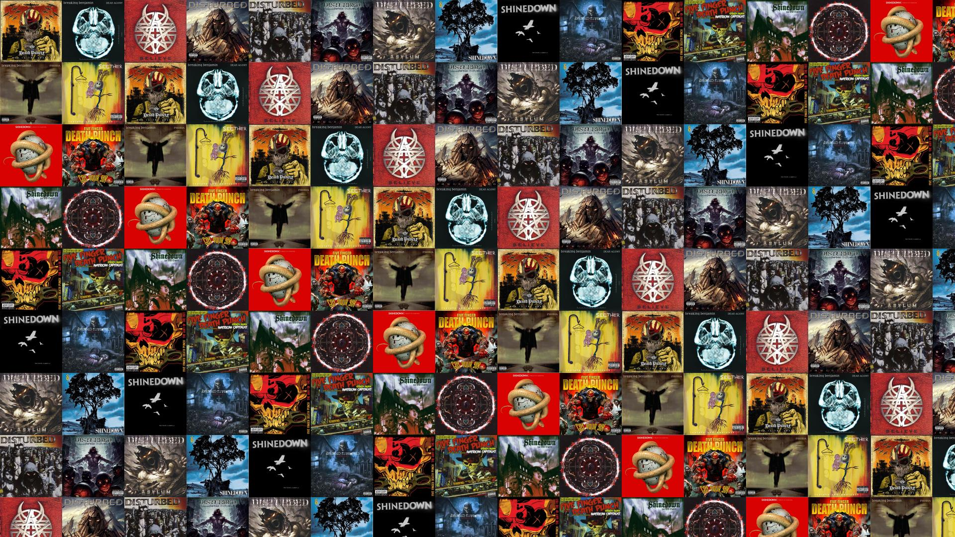 Download This Free Wallpaper With Images Of Five Finger Death Punch War Is The Answer Breaking Benjamin Dear Agony Disturbed Beleive