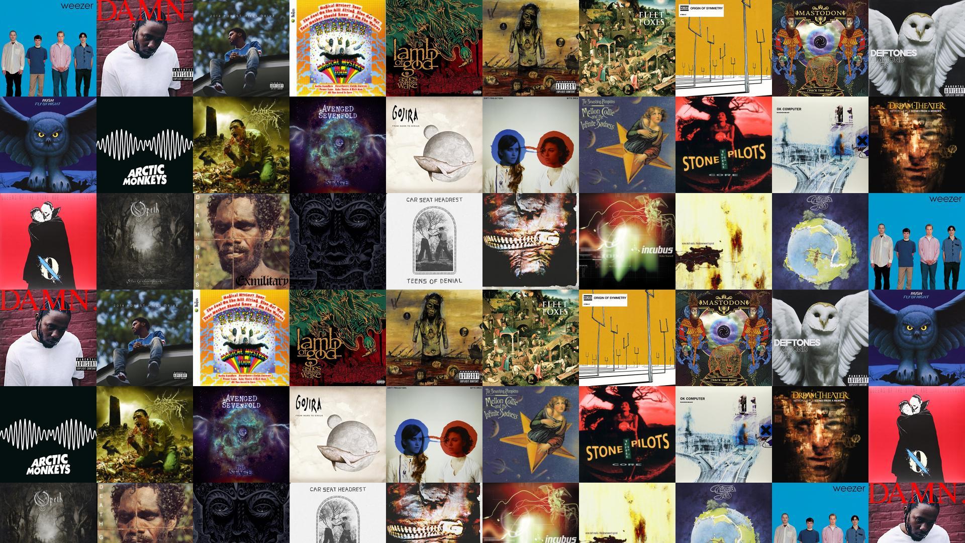 Weezer The Blue Album Kendrick Lamar Damn J Wallpaper Tiled
