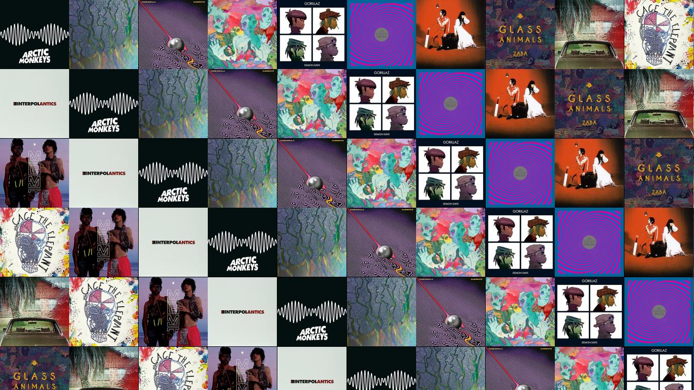 Arctic Monkeys Am Alt J An Awesome Wave Tame Wallpaper Tiled