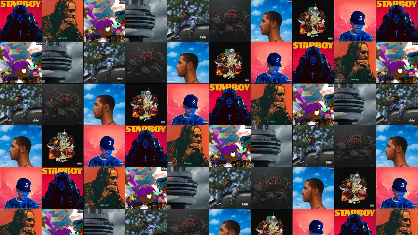Lil uzi vert tiled desktop wallpaper - Drake collage wallpaper ...