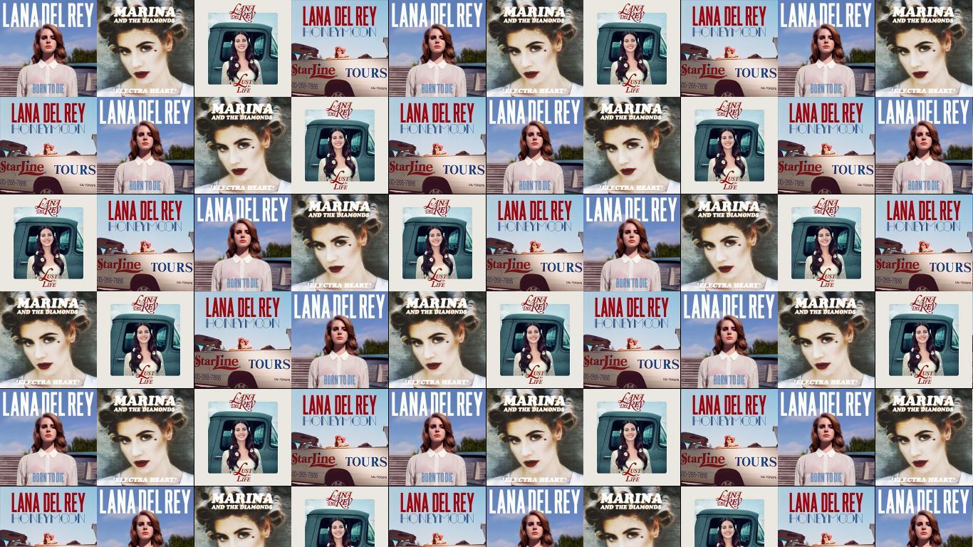 Lana Del Rey Born To Die Marina Diamonds Wallpaper Tiled Desktop Wallpaper