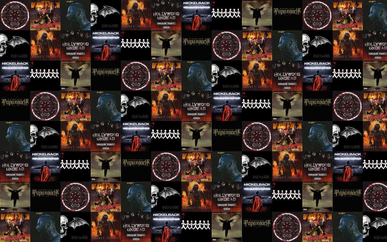 Nickelback Tiled Desktop Wallpaper